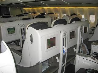 Business class in the Boeing 777-200, Air France