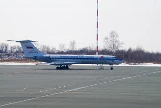 Tu-134AK RF-66001 of the Russian Navy in Vladivostok international airport