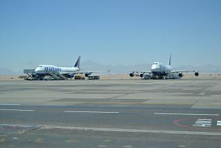 Boeing-747 of Transaero at the airport in Hurghada