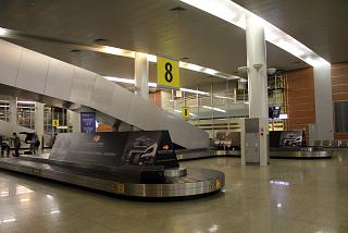 The baggage carousel in the terminal D of Sheremetyevo airport