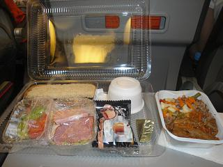 Food on the flight Sverny wind Krasnoyarsk-da Nang