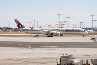 Авиалайнер Airbus A350-1000 A7-ANA Катарских авиалиний в аэропорту Франкфурт