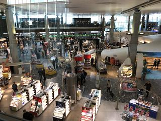 The Duty Free stores at Oslo airport Gardermoen