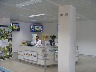 Information Desk at the airport of Alghero Fertilia