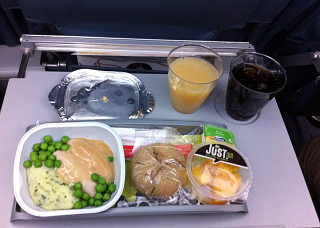 Food on the flight Munich-Lisbon TAP Portugal