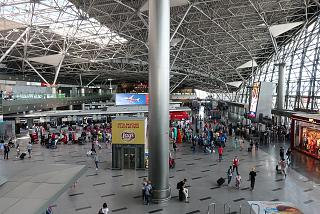 Inside the terminal A of Moscow Vnukovo airport
