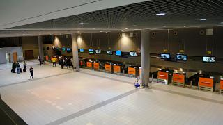 Hall check-in for flights at the terminal With airport Moscow Sheremetyevo