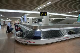 The baggage carousel at the airport of Brussels
