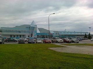The terminal of the airport Khanty-Mansiysk