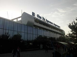 The terminal of the airport of Osh