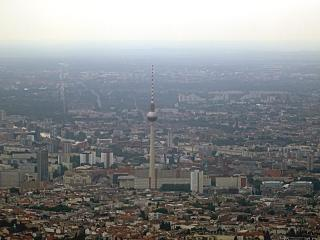 The TV tower at Alexander Platz-the centre of East Berlin
