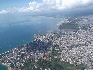 The city of stone town in Tanzania