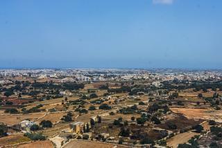Вид на Мальту при взлете