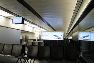 The waiting room before the boarding gate at Vienna airport