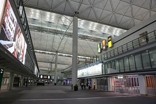 The arrivals area in terminal 1 Hong Kong airport