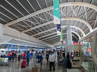 The check-in area for flights at the airport Mumbai Chhatrapati Shivaji
