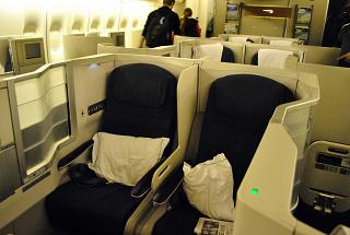 Space E/F, business class Club World on the Boeing 747-400 British Airways