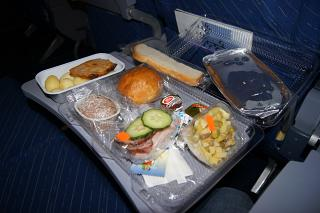 "Food on flight Novosibirsk-Moscow airlines ""ALROSA"""