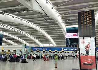 Reception British Airways in Terminal 5 of Heathrow airport in London