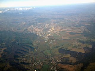 In flight over Slovakia