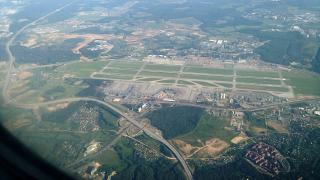 Top view of the Moscow airport Sheremetyevo