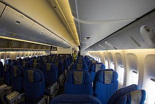 Interior comfort-class Boeing 777-200 Nordwind airlines