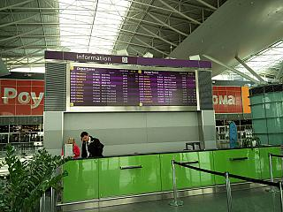 Information Desk and displays departures in terminal D Borispol airport