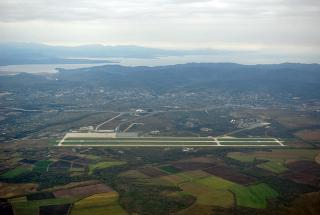 Top view of Vladivostok airport Knevichi