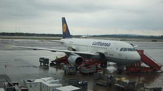 Airbus A319 авиакомпании Lufthansa в аэропорту Осло Гардермуэн