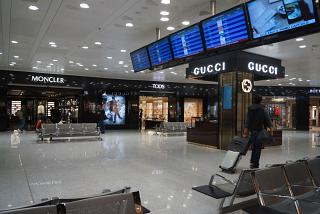The Duty-Free shops in terminal 1 of Milan Malpensa airport
