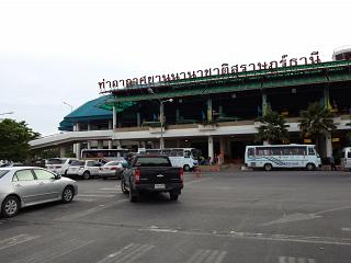 The terminal of the airport in Surat Thani in southern Thailand