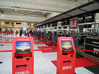 Reception of Turkish airlines in Istanbul Ataturk airport