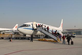 Boeing-737-800 operated by Air China at Beijing airport