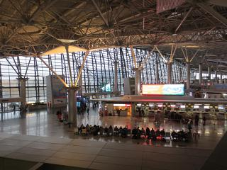 Inside the terminal A of Vnukovo airport
