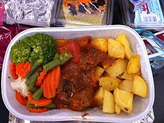 Food for the flight Doha-Bangkok Qatar Airways