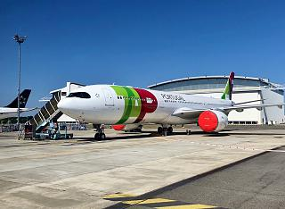 TAP Portugal A330-900neo at the Airbus Aircraft Plant in Toulouse