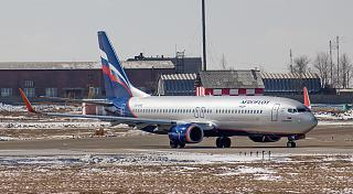 "The Boeing 737-800 VQ-BWE ""Aeroflot"" at the airport of Irkutsk"