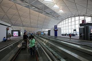 Gallery with boarding gates in terminal 1 Hong Kong international airport