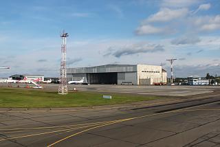 Hangar of airport Krasnoyarsk Emelyanovo