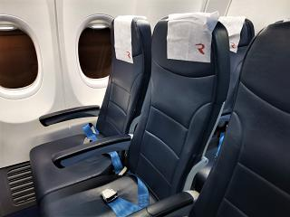 Passenger seats on the Boeing-737-800 of Rossiya Airlines