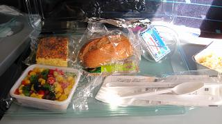 Food on the flight AI fly from Moscow to Barcelona