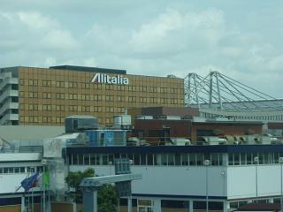 The headquarters of the airline Alitalia in Rome Fiumicino airport