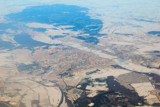Вид из самолета на город Воронеж