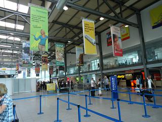 In the terminal building of the airport Weeze