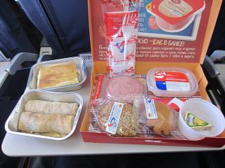 Питание на рейсе Екатеринбург-Санкт-Петербург Уральских авиалиний