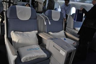 Business class on the Boeing-787-8 of China Southern Airlines