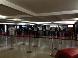 Стойки регистрации на внутренние рейсы в аэропорту Папеэте Фаа