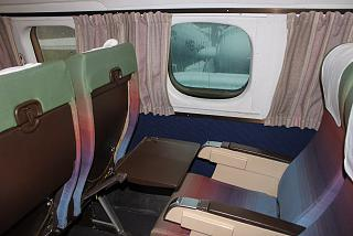 The passenger seats in the aircraft Lockheed L-1049G Super Constellation