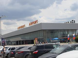 The terminal for domestic flights airport Volgograd, Gumrak