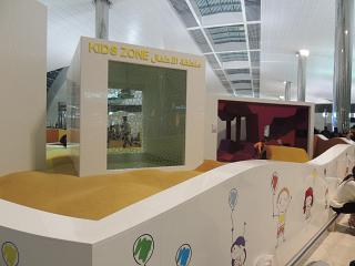 Children's area in concourse B of terminal 3 Dubai airport